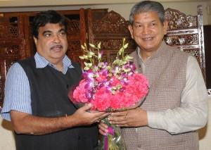 cm harish meets gadkari