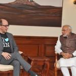 ट्विटर के सीईओ डिक काँसटोले की प्रधानमन्त्री मोदी से मुलाकात