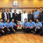 भारतीय बधिर क्रिकेट टीम के खिलाड़ियों के उपराष्ट्रपति से भेंट की