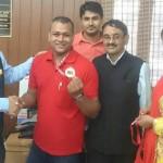 डॉ के एस राणा ने पैराओलम्पिक खिलाड़ी प्रेम कुमार को दी शुभकामनाये