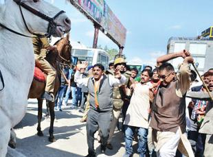 bjp-leader-ganesh-joshi-accused-of-attacking-police-horse-shaktimaan-arrested