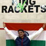 भारतीय नौ सेना के सीडीआर आशुतोष पेडनेकर ने रैकेटलॉन में इतिहास रचा