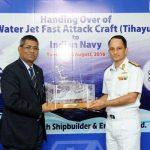 जीआरएसई ने डब्ल्यूजेएफएसी भारतीय नौसेना के सुपुर्द किया