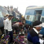 इंदौर-पटना एक्सप्रेस ट्रेन पटरी से उतरी ,90 की मौत