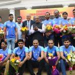 केंद्रीय खेल मंत्री ने विश्वकप कबड्डी विजेता टीम का किया अभिनंदन