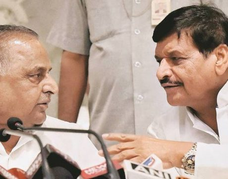 Mulayam with shivpal
