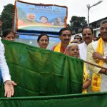गंगा संरक्षण रथ यात्रा को सीएम ने दिखायी हरी झण्डी