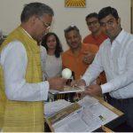 मुख्यमंत्री से ब्लाइन्ड क्रिकेट ऐसोसिएशन के सदस्यों ने की शिष्टाचार भेंट
