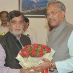मुख्यमंत्री त्रिवेन्द्र से केन्द्रीय ग्रामीण विकास राज्यमंत्री  रामकृपाल यादव ने की शिष्टाचार भेंट