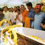 मुख्यमंत्री ने शहीद जवान विकास गुरूंग को श्रद्धांजलि दी
