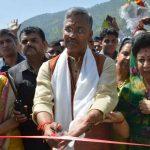 चिन्यालीसौड़ में मुख्यमंत्री ने किया आर्च पुल का लोकार्पण