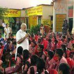 प्राइमरी स्कूली बच्चों संग पीएम मोदी ने मनाया जन्मदिन