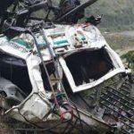 यात्री वाहन खाई में पलटा, 13 की मौत