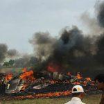 मिग 27 विमान क्रैश, पायलट ने बचाई लोगो की जान