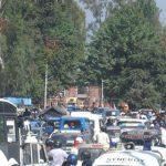 नामांकन जुलूसों के चलते शहर की ट्रैफिक व्यवस्था रही ध्वस्त