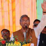 सीएम त्रिवेन्द्र  ने बाजपुर मे किया 98 करोड़ की योजनओं का शिलान्यास एवं लोकार्पण