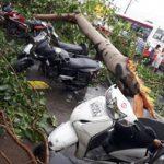 मूसलाधार बारिश से आधा दर्जन से अधिक वाहन क्षतिग्रस्त