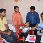 दिव्यांग बच्चों के स्वास्थ्य जांच शिविर का आयोजन