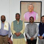 आपदा से हुए नुकसान का जायजा लेकर लौटे केन्द्रीय दल ने की मुख्यमंत्री से मुलाक़ात