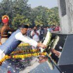 सीएम त्रिवेन्द्र ने राष्ट्रीय पुलिस स्मारक पर शहीदों की शौर्य गाथा और पराक्रम को किया नमन