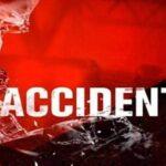 कैंटर ट्रक दुर्घटनाग्रस्त, एक की मौत, चार लोग घायल