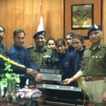 डीजीपी से मिले पुलिस एथलेटिक्स चैंम्पियनशिप के पदक विजेता